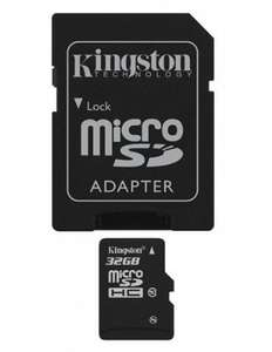 Kingston 32GB micro SDHC Class 10 Card & adapter £6.99 @ 247 Electronics