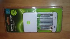 tesco battery charger aa/aaa + 4 batteries £1.50