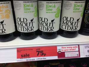 Old Mout Cider kiwi & lime 500ml Now 75p reduced from £2.15 @ Sainsburys