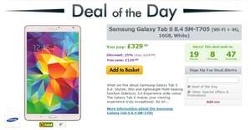 Samsung Galaxy Tab S 8.4 SM-T705 (Wi-Fi + 4G - £329.99 @ Expansys