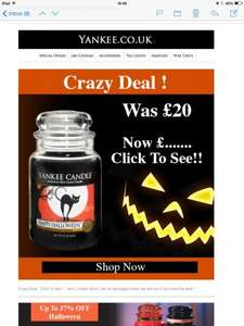 Crazy Yankee Candle Large Jar Deal - £12.00 (14.95 Delivered)