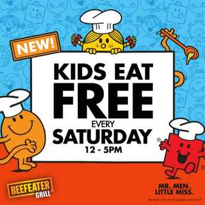 Kids Eat Free Every Saturday 12-5pm with paying adult @ Beefeater Grill (Plus Free Mr Men or Little Miss Activity Magazine For Every Child this half term)