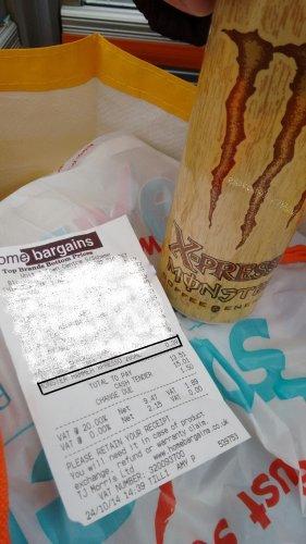 -39p- Monster Energy Drink Xpresso Hammer & Midnite @ Home Bargains
