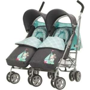 Obaby Apollo V2 Twin Stroller - Denim Mickey - Argos £65.11