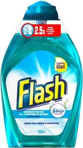Flash Liquid Gel All Purpose Cleaner - Cotton Fresh (400ml) 91p Or 41p (if you use a 50p coupon from supersavvyme) Or 1p (40p from shopitize) @ Co-operative Food