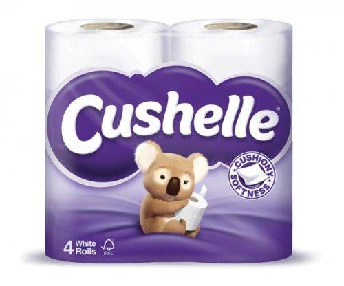 Cushelle Toilet Tissue & Cushelle Linen Scented Core Cushiony Soft Toilet Rolls White 4pk only £1 @ Wilkos