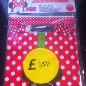 Party bags, Minnie Mouse 8 pack 35p @ Tesco instore