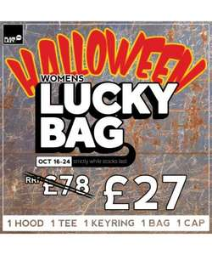 PLAIN LAZY WOMENS HALLOWEEN LUCKY BAG OCT14 only £27.00