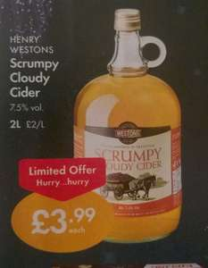Henry Westons Scrumpy Cloudy Cider, 2 litres, £3.99 at Lidl