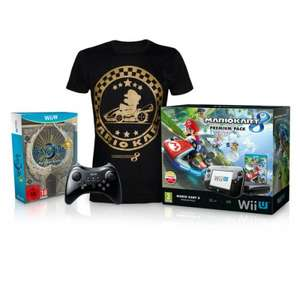 "32GB (Deluxe) Wii U Mario Kart 8 Premium Pack + Wii U Pro Controller + Mario Kart 8 T-Shirt (Medium) + Bayonetta 2 First Print Edition + FREE ""Official Nintendo Magazine Presents: The Ultimate Guide to Mario"" @ Nintendo Store £299.99"