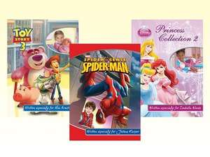 Personalised Kid's Photo Adventure Story Books with Disney, Marvel and Nickelodeon Characters Was £24.98 Now £12 Delivered @ Amazon Local