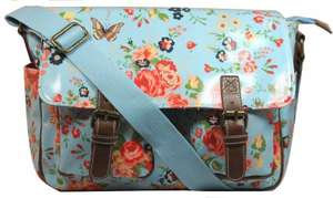 Lydc Women's Milly Floral Satchel Baby Blue SS01018 Large £6.17 @ Amazon (free delivery £10 spend/prime)