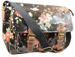 Lydc Women's Milly Floral Satchel Black SS01015 Large, £5.74 Add On Item @ Amazon