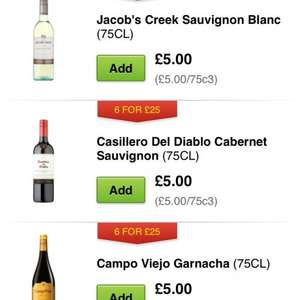 Asda wines 6 for £25
