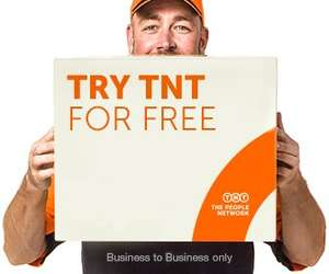 TNT Free Business2Business Delivery up to 100kg anywhere in the UK or to Europe!