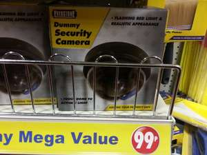 DUMMY SECURITY CAMERA FOR JUST 0.99p, LOOKS AMAZINGLY REAL !!!!! @ 99p stores in wembley