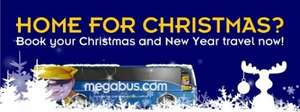 Megabus Christmas travel from £1 plus 50p booking fee.