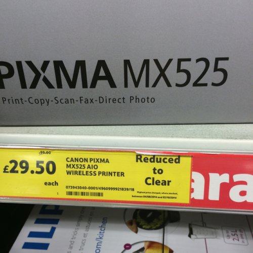 Canon Pixma MX252 AIO Wireless Printer £29.50 @ Tesco instore