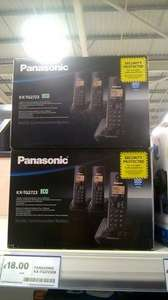 PANASONIC KX-TG2723 ECO TRIPLE CORDLESS PHONE PACK WITH ANSWERING MACHINE - £18.00 @ Tesco instore