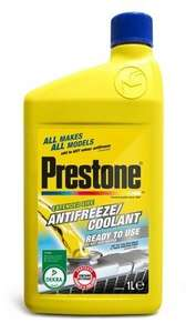 Prestone Anti-freeze/coolant 1 Litre £3.75 @ Tesco