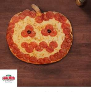 Pumpkin shaped pizza buy one get one free papa johns