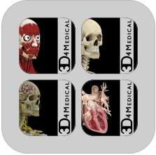 Four 3D4Medical's Body Systems for iPad (HALF PRICE SALE FOR LIMITED TIME ONLY) £17.49 @ itunes