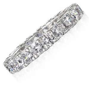 3 ct. Eternity Ring Stimulated Diamonds Tru Diamonds £53.95