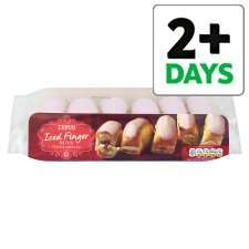 Tesco Raspberry Iced Finger Buns 6pk £1.00