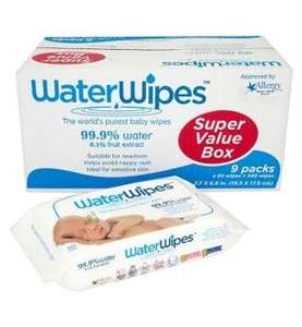 water wipes 9 packs of 60 £13.00 @ Boots