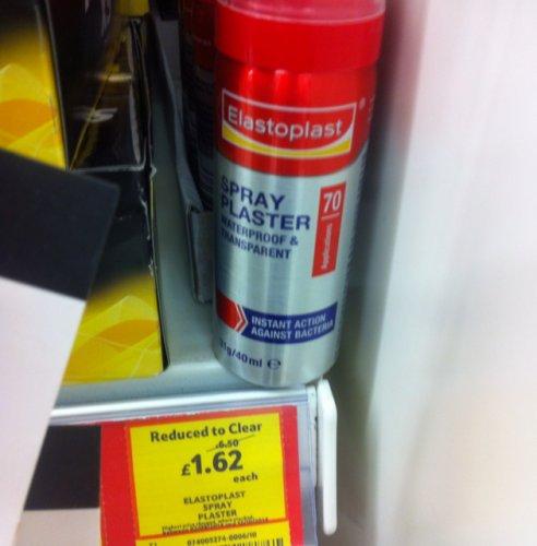 Elastoplast Spray Plaster 40ml - £1.62 down from £6.50 - Tesco instore