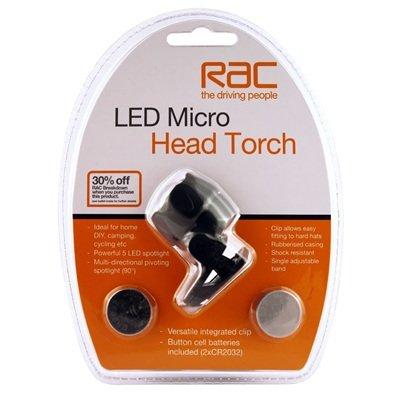 RAC micro head torch, inc batteries - £4.99 @ Sainsbury's in store