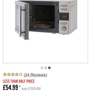 De'Longhi AM820CON(F)-PM 20L Solo Microwave Was £129.99 Now £54.99 @ Argos
