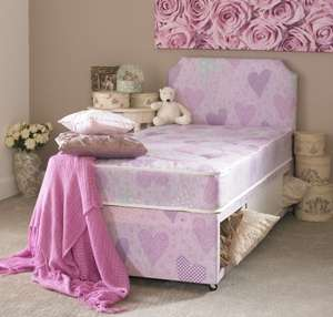 Children's Pink Princess Divan Bed Set Ebay/in2bed10