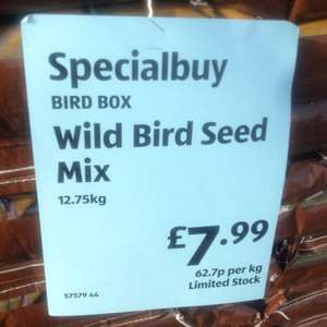 Bird Box Wild Bird Seed Mix 12.75kg £7.99 @ Aldi