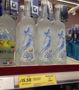 Tesco Instore Snow Queen Vodka 70cl £15.50 AND Bushmills Single Malt 10 Yr Old 70cl Whiskey £16. AND Other Deals. @ Tesco