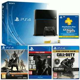 GAME: PS4 with COD Advanced Warfare, The Last of Us, Destiny AND 12 Mth PS+ for £399.99!!! Act fast and get Alien Isolation for £17 using the points this gets you :D