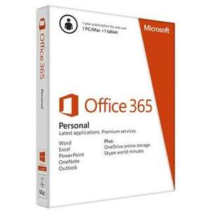 Staples deal of the Day - Office 365 Personal for 1PC/Mac and one tablet £39.98 (one year sub)