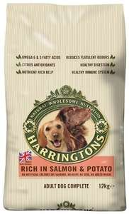 Harringtons Complete Rich In Salmon and Potato Dog Food 12 Kg - £18.00 @ Amazon