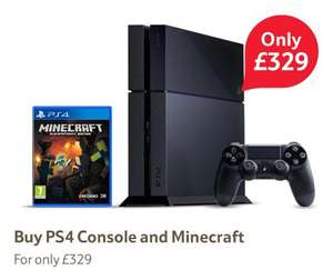 PS4 console + Minecraft £329 @ Tesco