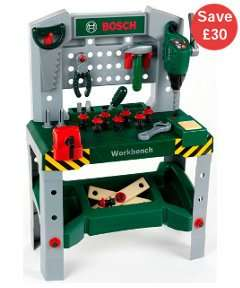 Bosch workbench with sound. Half price £30 @ Mothercare