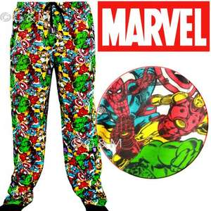 Mens Marvel Character Lounge Pants £9.99 @ eBay gm_tradingukltd