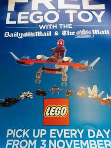 Free Lego Toy when you buy the Daily Mail or Mail on Sunday from Martins or McColls