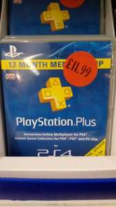 PSN 12 month subscription, £11.99 @ Sainsburys - instore Chafford Hundred