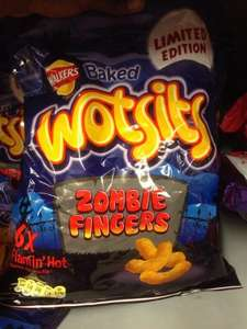 Wotsits Zombie Fingers Flamin Hot Flavour 6 Pack 50p @ ASDA Instore