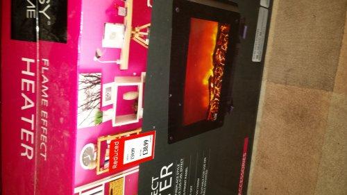 flame effect heater £30.99 @ Aldi