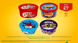 Celebrations, Heroes, Roses, Quality Streets, Haribo - 2 tubs for £7 @ Morrisons (Now live)