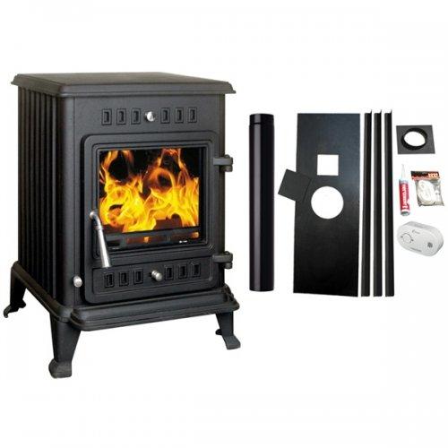 Kresnik Cast Iron Multifuel Woodburning Stove with Install Kit 4.5kW £279.97 @ woodburnerworld