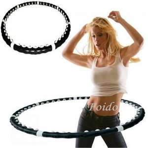 HULA HOOP PROFESSIONAL WEIGHTED MAGNETIC FITNESS EXERCISE MASSAGER WORKOUT ABS £7.75 @ eBay Foido