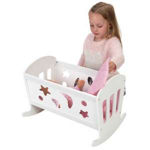 Wooden Dolls Crib/Cradle £16.99 @ Smyths