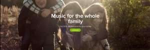 Spotify Family Get 50% off Premium: Me + 1 family members  £14.99